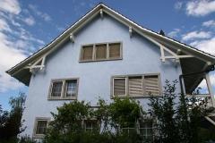 Lasurtechnik Fassade blau