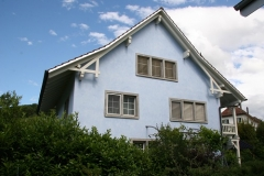 Lasurtechnik Fassade blau5